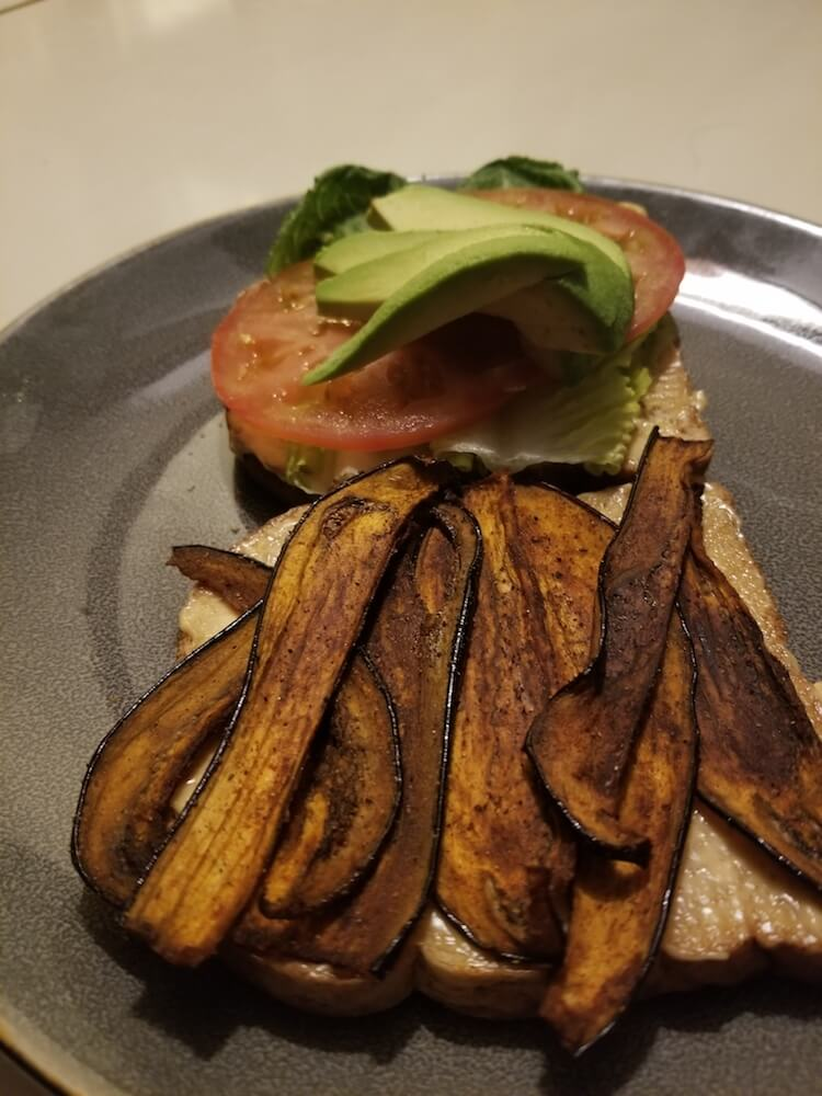 BLT w/ Eggplant Bacon